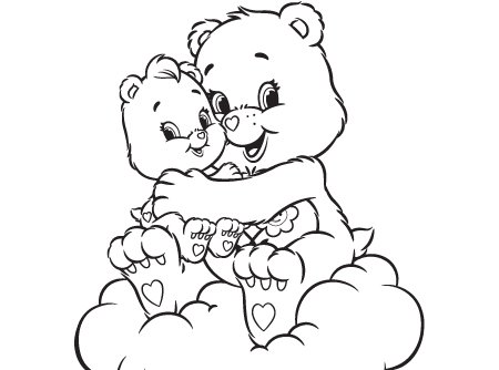 A Friend Indeed Care Bears Activity Wonderheart And Bear Coloring Page Full