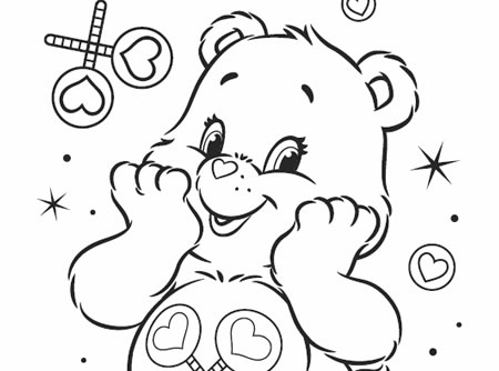 Bedtime Care Bear Coloring Pages | Dibujos, Dibujos animados para ... | 334x450
