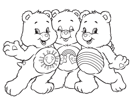 IMAGE | Bedtime Care Bear Coloring Pages | Bear coloring pages ... | 334x450